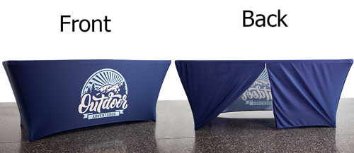 4-Sided Stretch Table Cover with Zipper