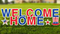 Welcome Home Military Yard Letters