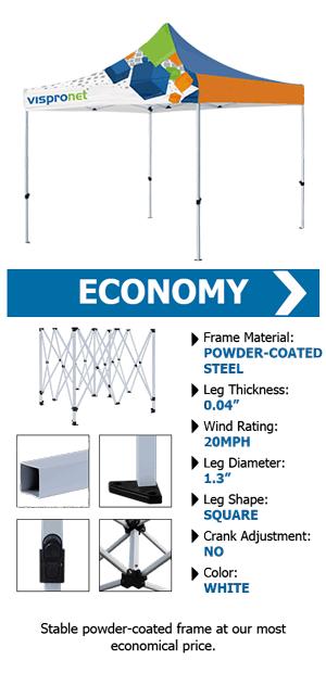 custom 10x10 economy tent
