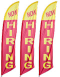 Now Hiring Feather Flag 3-Pack