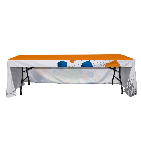 three-sided trade show table cover