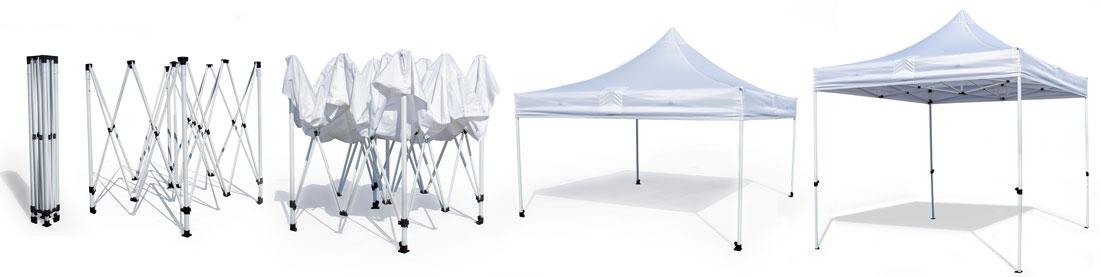 custom canopy tent setup