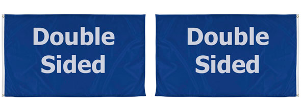 custom double sided flags