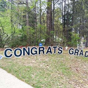 graduation yard letters