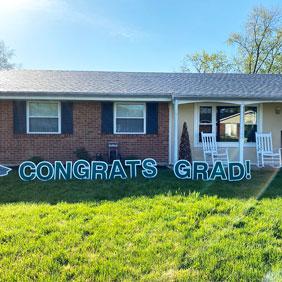 graduation yard decorations