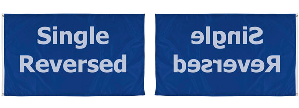 custom single sided flag